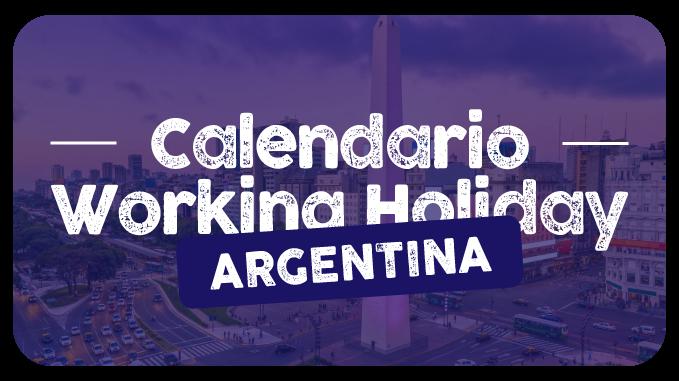 calendario fechas working holiday argentina