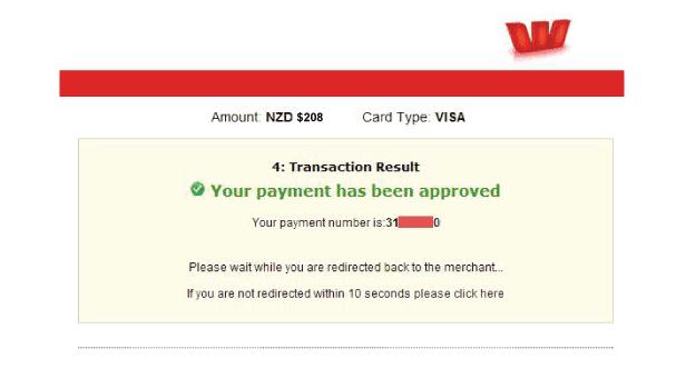 pago visa nueva zelanda