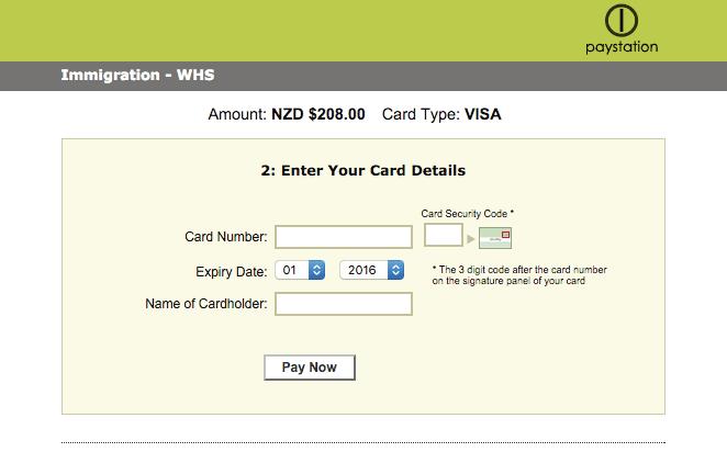formulario aplicacion nueva zelanda visa working holiday