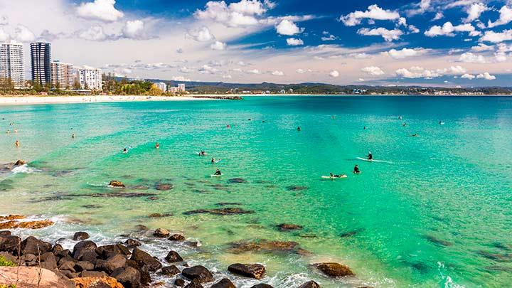 Coolangatta playa en Australia