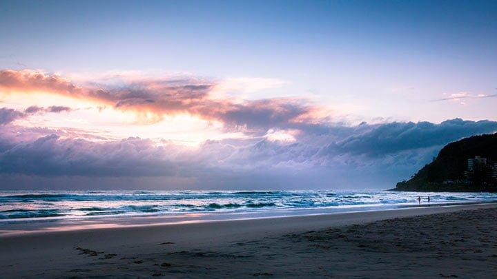 Burleigh Heads playa en Australia