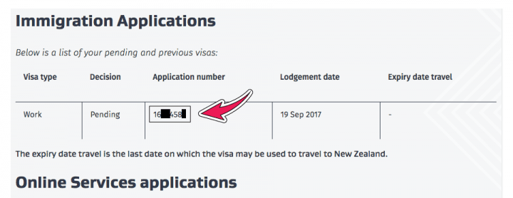application number working holiday visa nueva zelanda