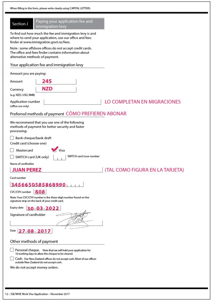 Aplicacion a la extension de la visa Nueva Zelanda