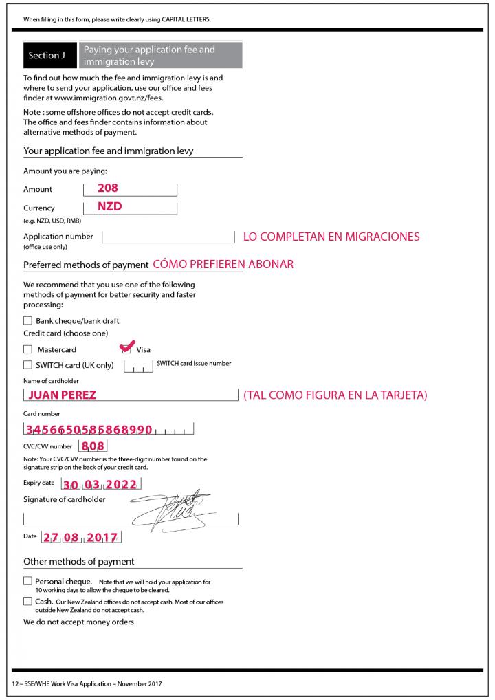 formulario extensión working holiday nueva zelanda