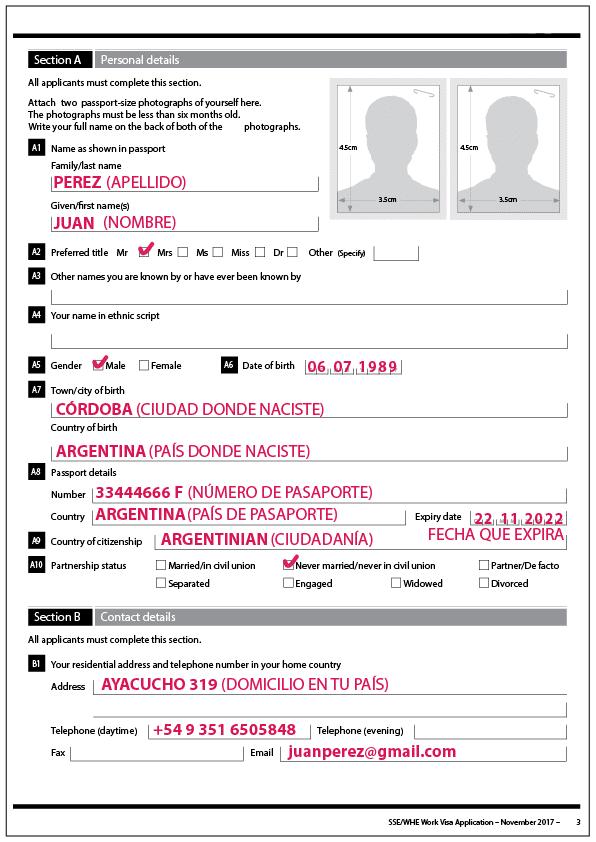formulario extensión nueva zelanda