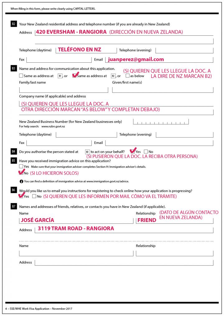 extensión nueva zelanda formulario