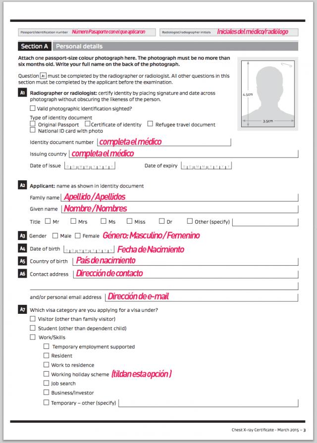 formulario rayos x nueva zelanda