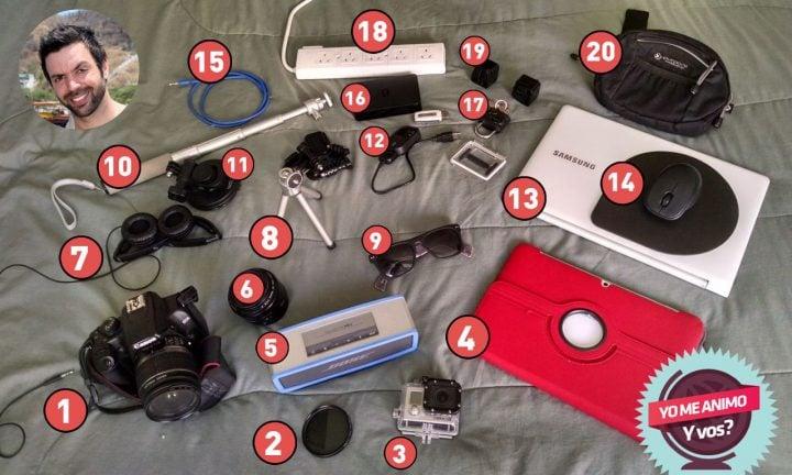 travel gear equipo viaje