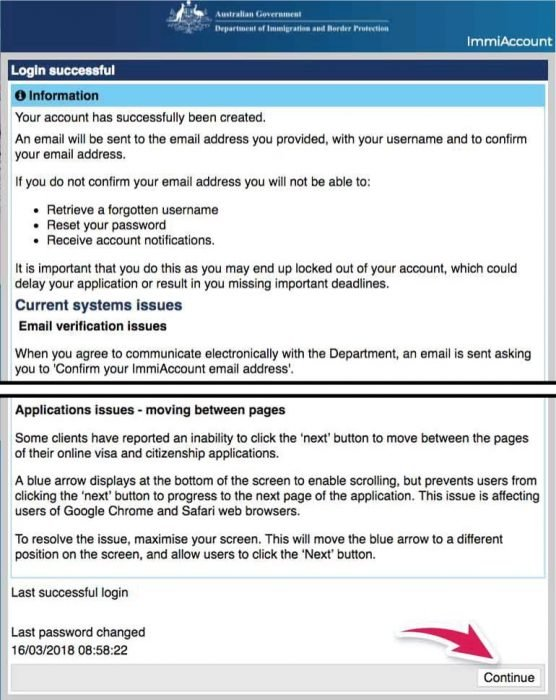 crear cuenta inmigracion australia work and holiday