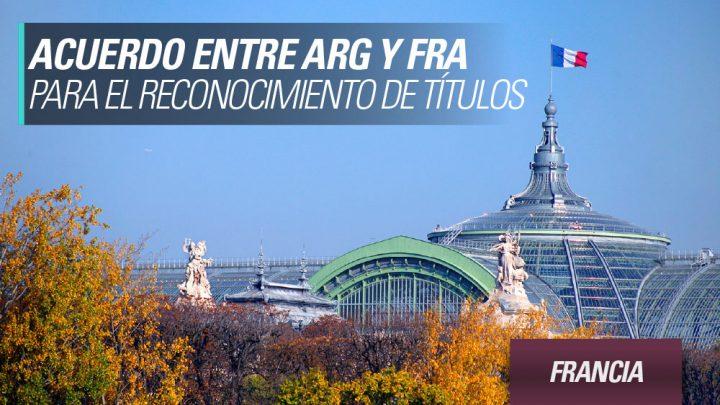 acuerdo entre argentina y francia para el reconocimiento de títulos