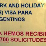 cupos visas de australia para argentinos work and holiday