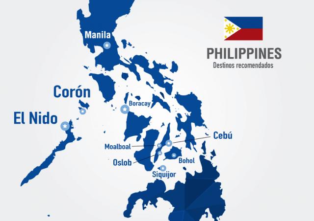 filipinas mapa destinos recomendados