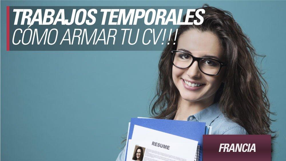 Francia: Cómo armar el CV para aplicar a trabajos temporales