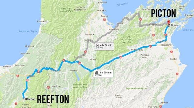 picton reefton ruta nueva zelanda