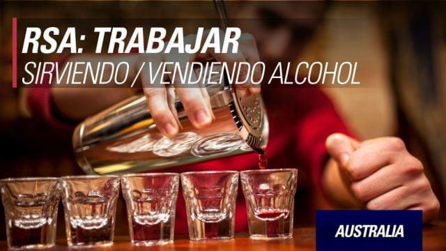 australia Trabajar servir alcohol rsa bartender