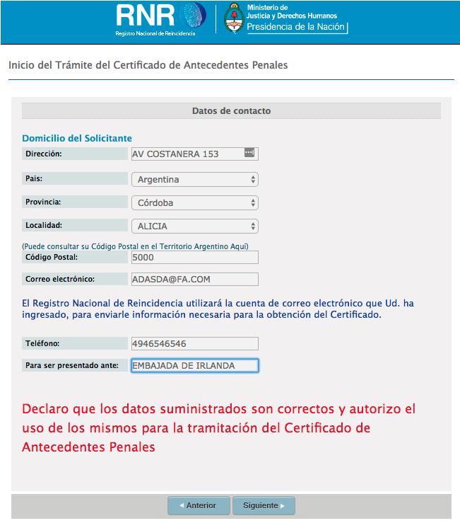 antecedentes penales desde interior argentina