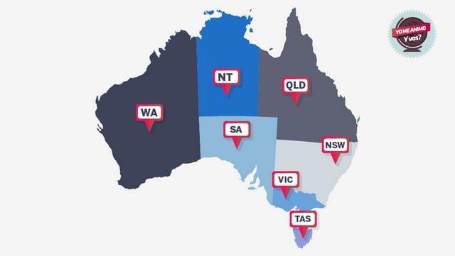 zonas de trabajo Australia