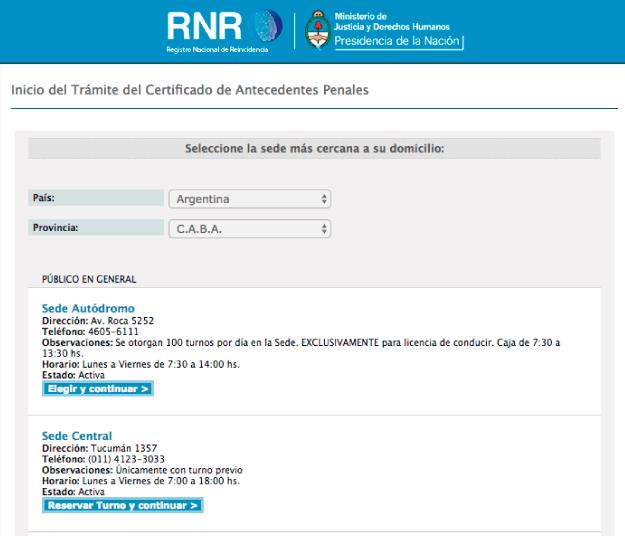 como sacar antecedentes penales argentina