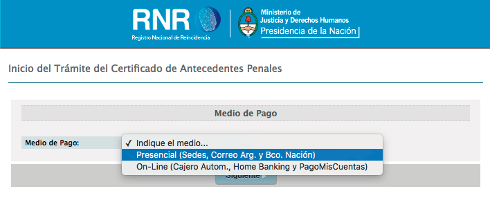 como solicitar antecedentes penales argentina