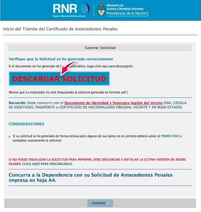 descargar solicitud antecedentes penales argentina
