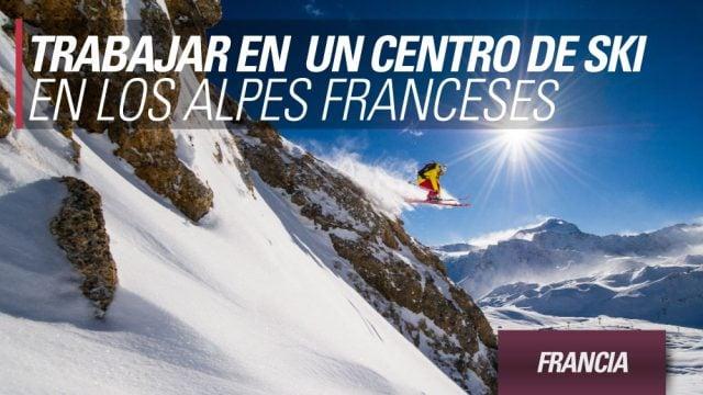 francia trabajar nieve centro de ski alpes