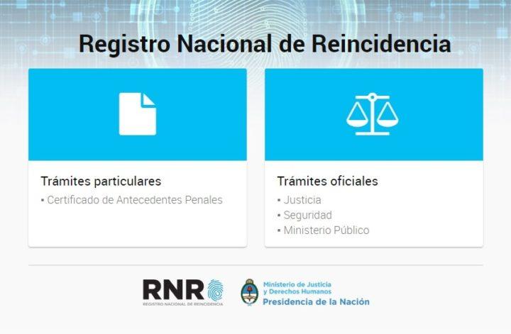 certificado antecedentes penales online