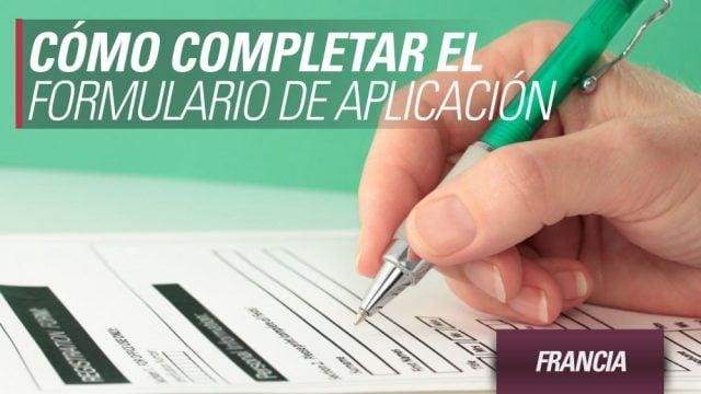 Como completar el formulario de aplicación
