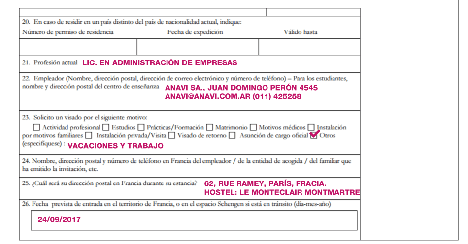 visa vacaciones y trabajo francia