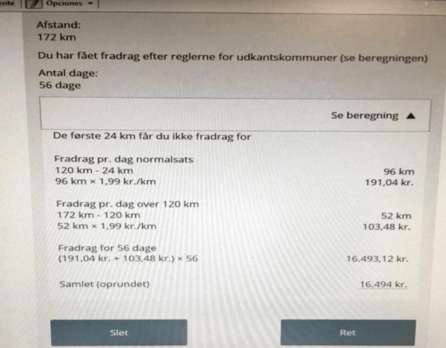 skat calcular impuestos transporte dinamarca