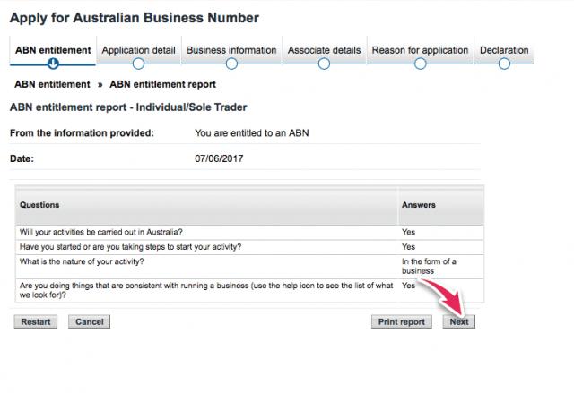 como conseguir ABN australia
