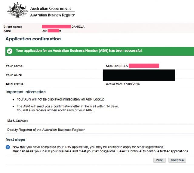 conseguir ABN australia