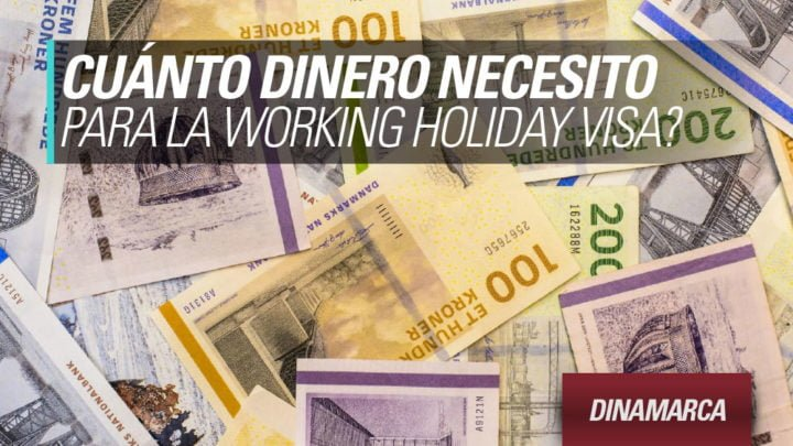 dinero visa working holiday DInamarca