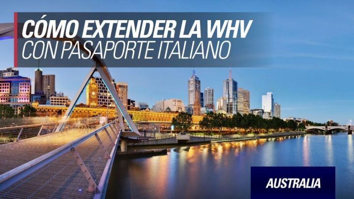 como extender la visa Australia con pasaporte italiano