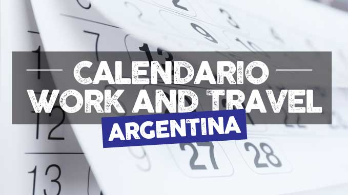 calendario fechas working holiday argentina