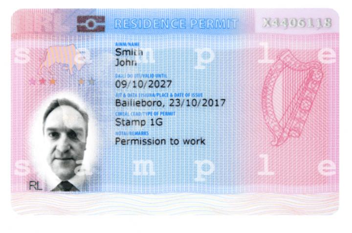 irp tarjeta residencia irlanda