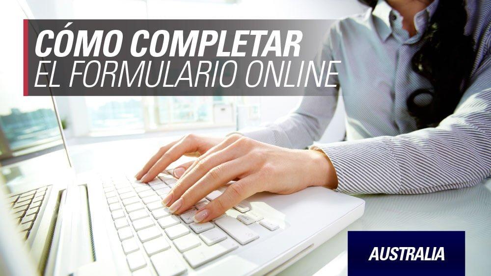 formulario work and holiday Australia