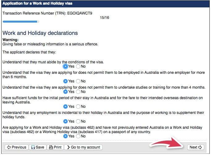Formulario Australia