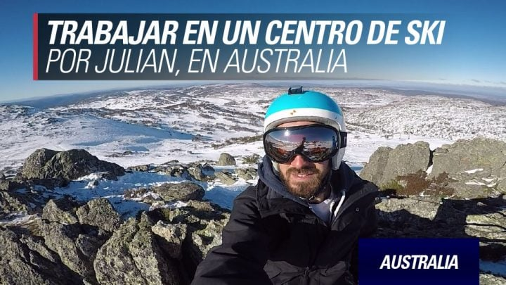trabajando en un centro de ski australia