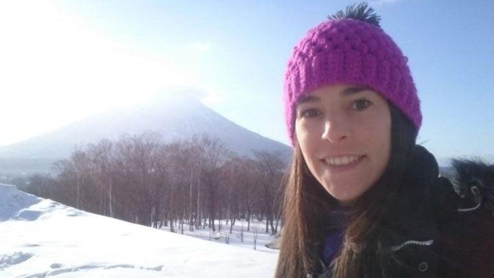 Trabajando en centro de ski Japón
