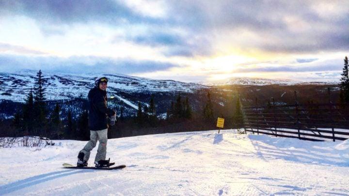 Snowboarding en Suecia