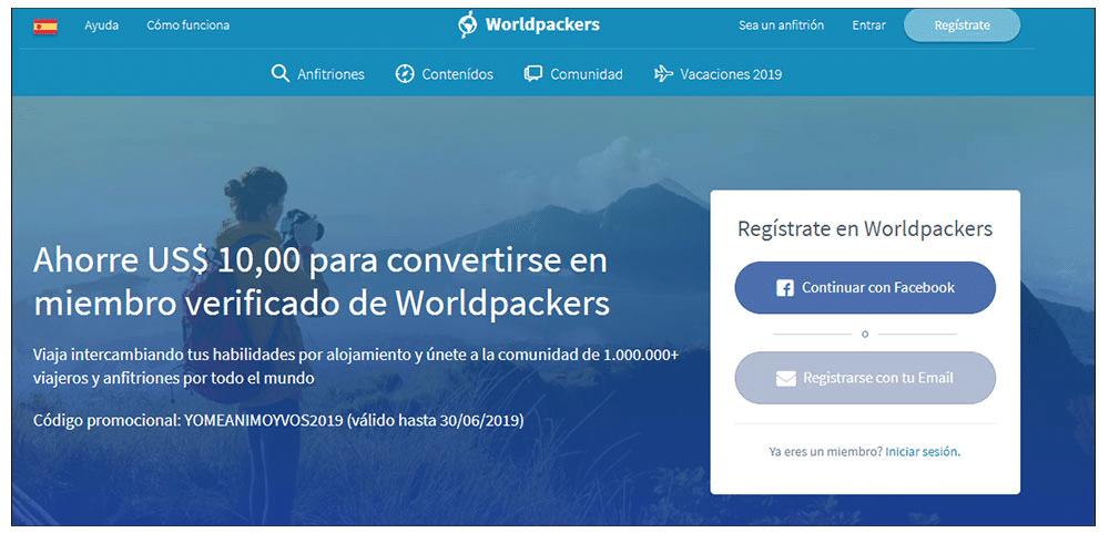 homepage worldpackers
