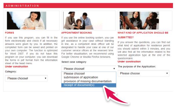 solicitar turnos web Hungria