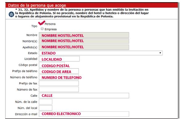 polonia formulario