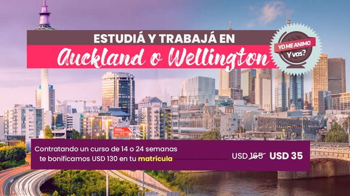 cursos auckland wellington promo