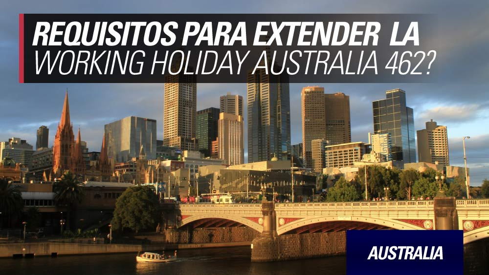 Extensión working holiday australia