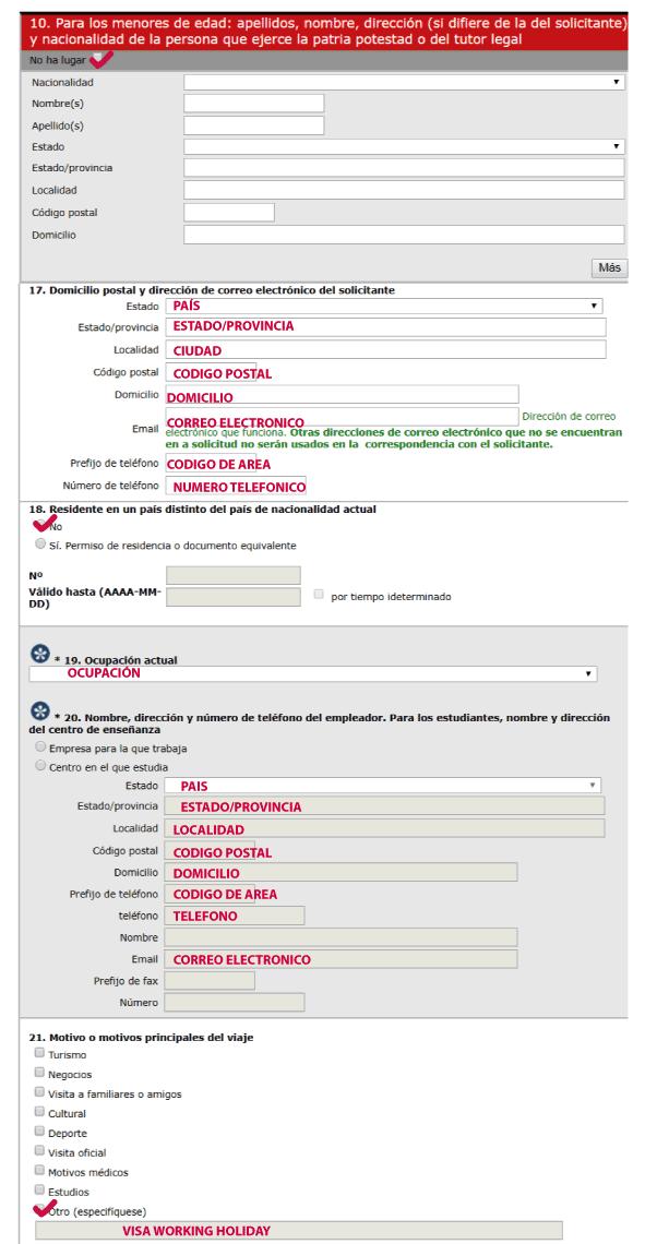 formulario aplicacion working holiday polonia