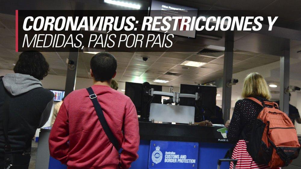 coronavirus restricciones pais por pais