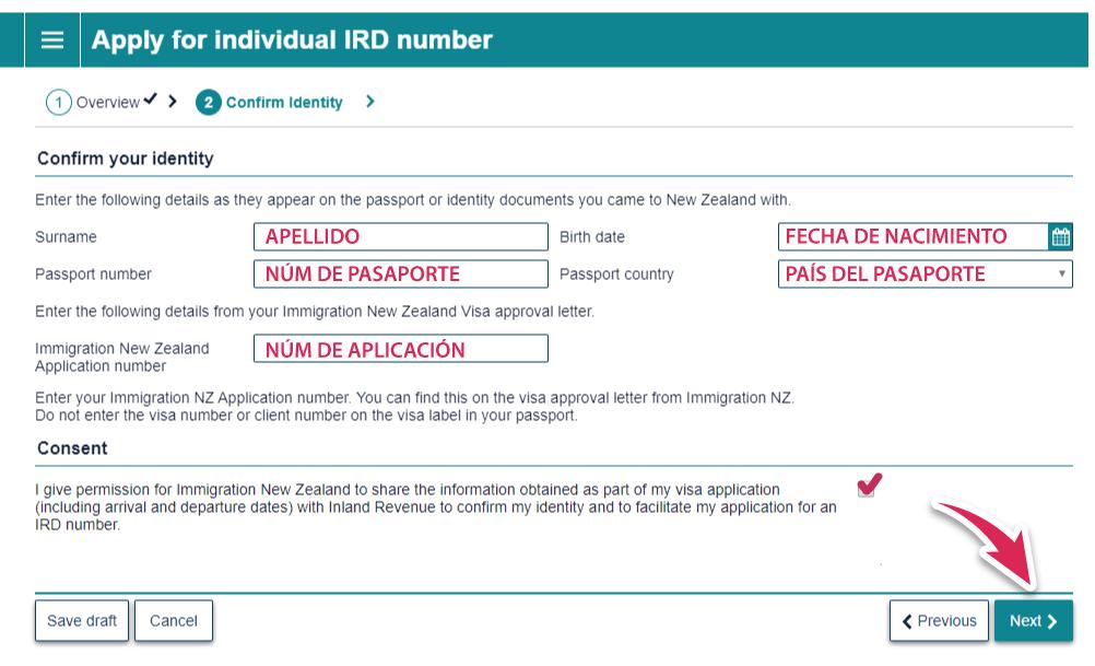 IRD aplicar