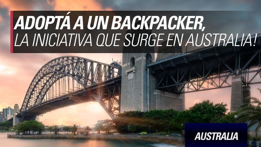 iniciativa adopta un backpacker