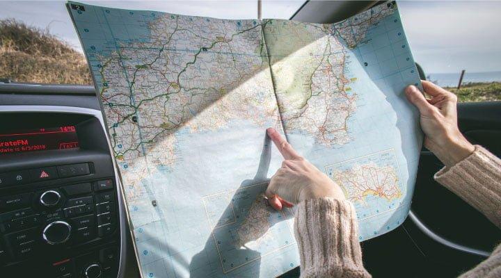 auto mapa